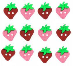 Knapper :  Sew Cute Strawberries