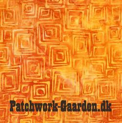 Retro Metro Batik : Orange firkantet