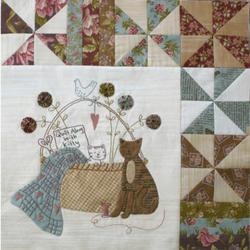 A kittens Tal - Quilt along with Kitty (nr 2 af 9)