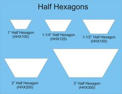 "1"" halve hexagoner - 50 stk"