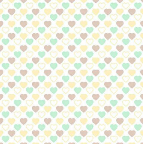 Quilters Basic Harmony : Pastel Hjerter