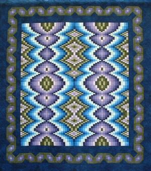 Bargello : Lavender Blue
