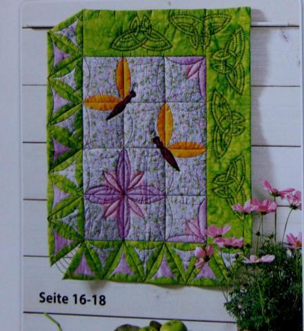 Blumen bilden aus 7 Sechsecke