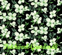 Dogwood Lane : Sort m/ Blomster